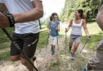 Nordic Walking in den Bergen